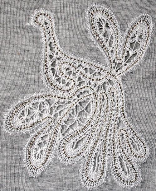 Advanced Embroidery Designs - FSL Battenberg Peacock Lace Insert