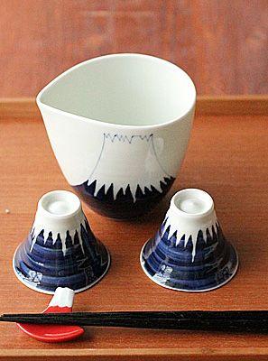 和食器通販の【おかずのうつわ屋・本橋】富士山酒器セット