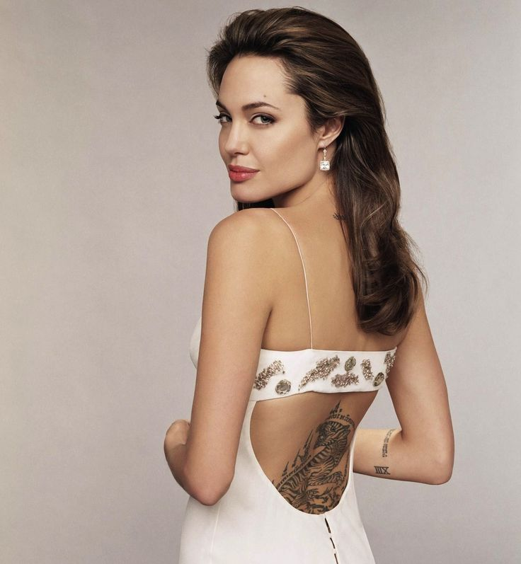 Cool 10 Hot Angelina Jolie Tattoos Images