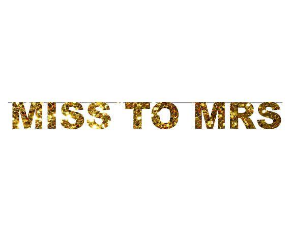 MISS MRS bandera / de señora a señora banner / banner de