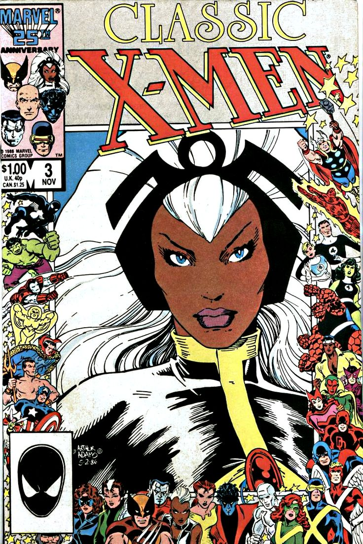 Classic X-Men 3 Storm cover by Arthur Adams. I wasn't into comics like my older brothers were...but X-Men was the exception.  The main reason: the character, Storm (aka, Ororo Munroe).  Not only was she a female superhero but she was BLACK like me. And unlike Wonder Woman, she possessed a REAL superpower (control/create/effect weather conditions) and not rely on gimmicky props. Self-esteem boosted!