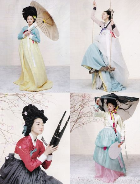 Photography: Kim Kyung Soo for Vogue South Korea Photography by: Gun-Ho Lee for Vogue South Korea Traditional Korean dresses – the Han Bok Found via rosecantine.com, iainclaridge.co.uk, and nay-k.de