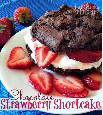Chocolate Strawberry Shortcake... super easy.... super yummy.  #recipe
