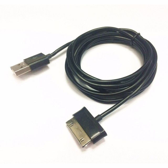 P1000 P7510 2m 6ft Long Thick Usb Cable Black For Samsung Galaxy