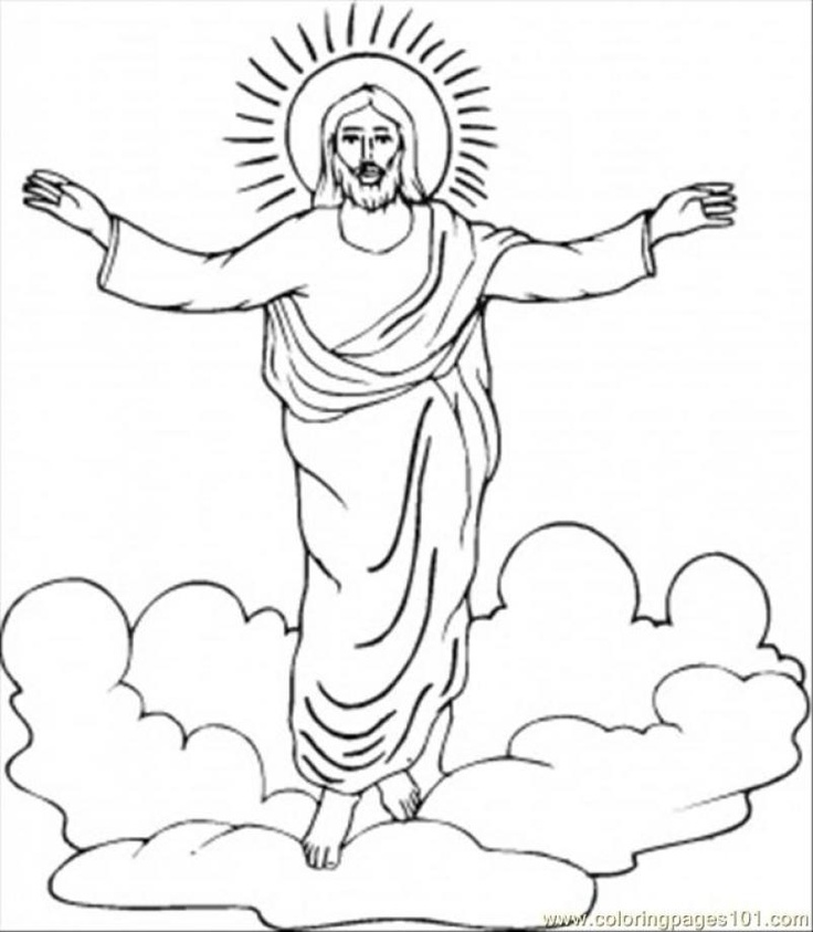 Catholic easter coloring pages free