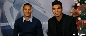 Danilo y Casemiro felicitan la Navidad