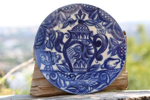 Lomonosov Plate Blue Lomonosov Rare Lomonosov Plate by Diamir