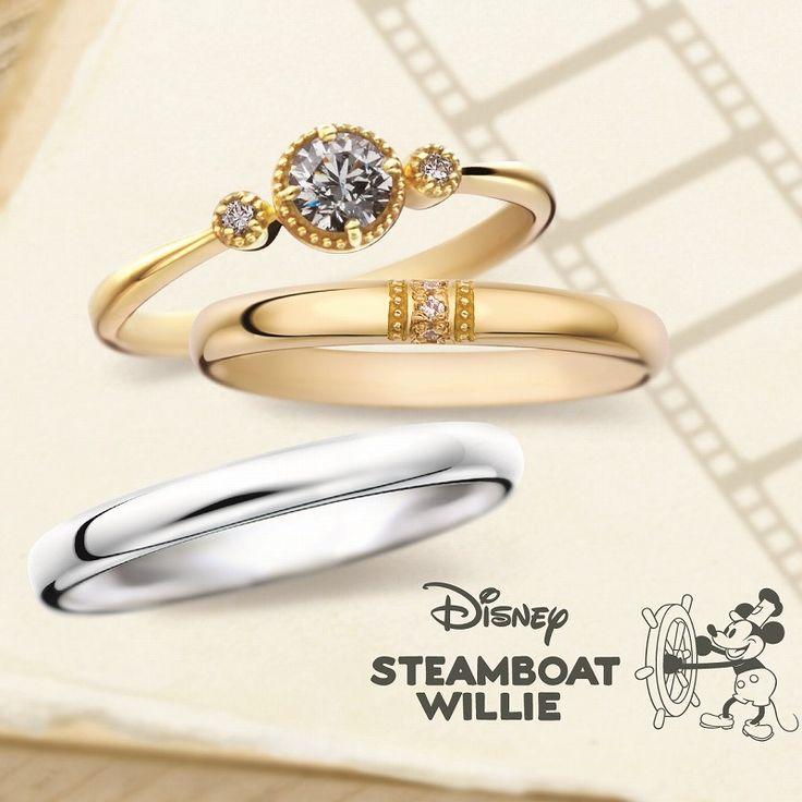 銀座・柏・直方の結婚指輪 Disney STEAMBOAT WILLIE(ディズニースチームボートウィリー)/Co-vedette コベデット CND-89 CND-90