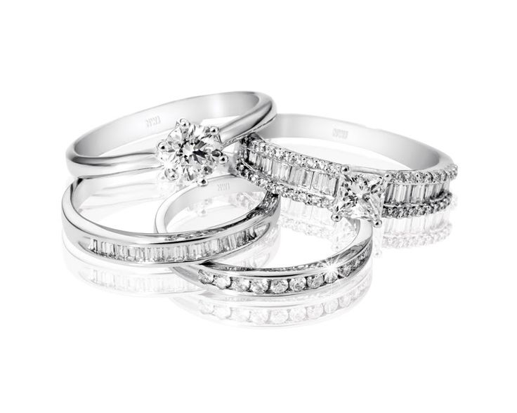 18t Gold Diamond Rings From Top: R43,999, R21,330, R4,600 and R3,990  *Prices Valid Until 25 Dec 2013