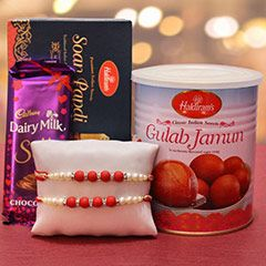 Send rakhi with soan papdi and your favorite  chocolate to ahmedabad on this raksha bandhan 2017
