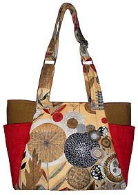 Heather's Bag Pattern in PDF by Sewphisti-Cat Designs - Love the outside pockets and the adjustable handle!