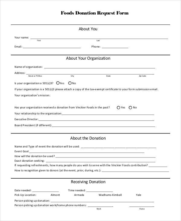 Donation Request Form Template from i.pinimg.com