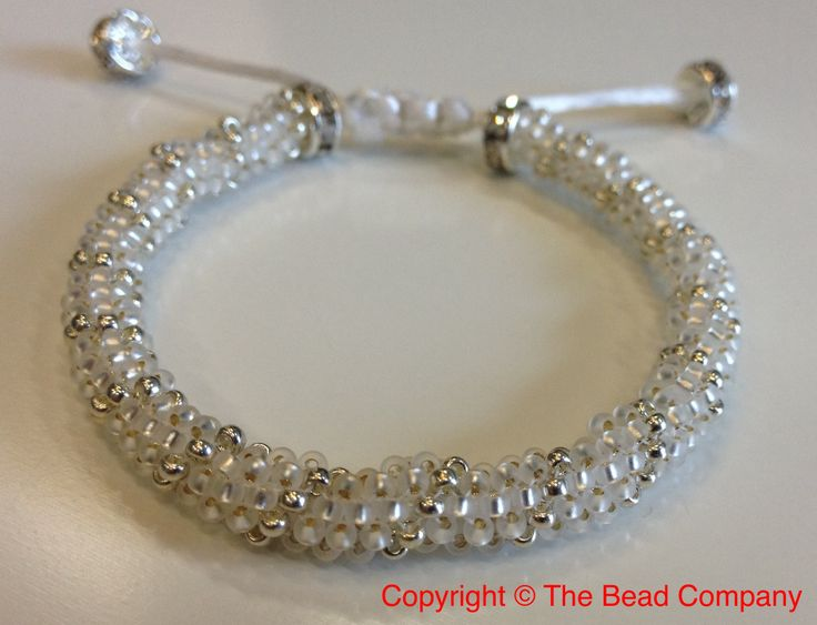 Perfect for the wee bridesmaid! Slips on & off easily and is delicate for small wrists.  Www.thebead.co.uk