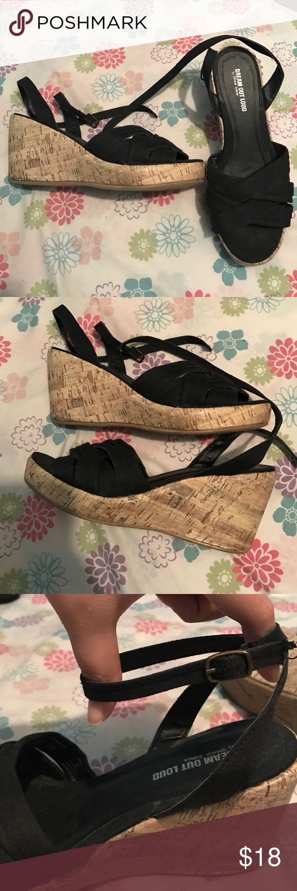 Dream out loud by Selena Gomez wedges Very cute wedges and only worn once to a wedding! Shoes Wedges