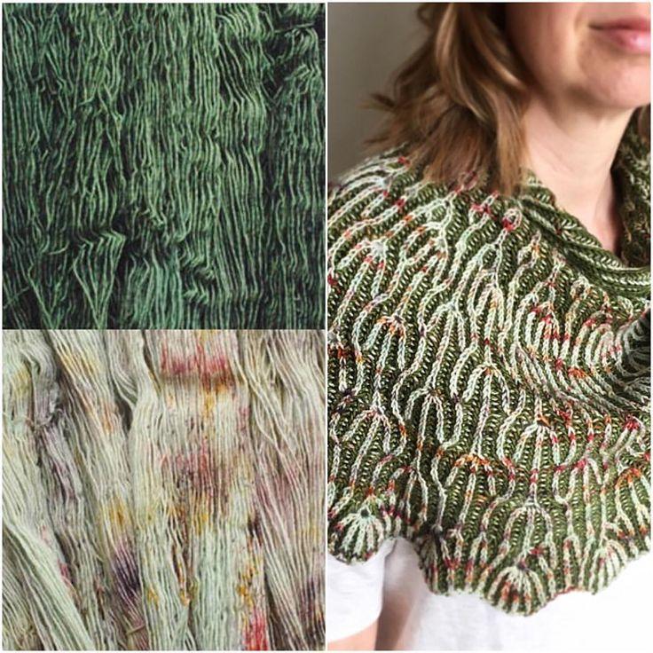 "584 Likes, 7 Comments - Lesley Anne Robinson (@knitgraffiti) on Instagram: ""Another beautiful #yarncombo for Dandelion Fields, chosen by Shari @peepaloofields :: Pine + Wharf,…"""