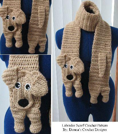 Labrador Scarf Crochet Pattern
