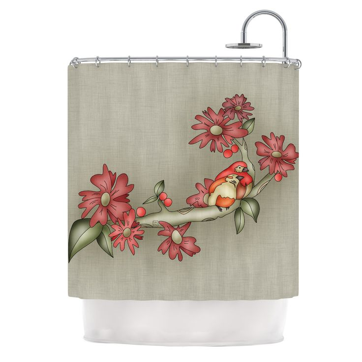 "Carina Povarchik ""Feng Shui"" Red Brown Shower Curtain"