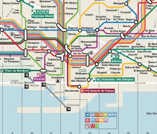 Plano metro de Barcelona