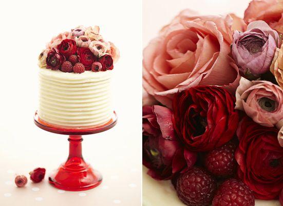valentines day flower cake