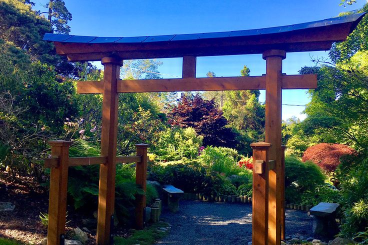 Benches scattered around the scenic Japanese Garden offer up the perfect place for a picnic. Credit: Scott McDonald #exploreBC #exploreBCgardens #BCGardens #Gardens #JapaneseGarden #Esquimalt