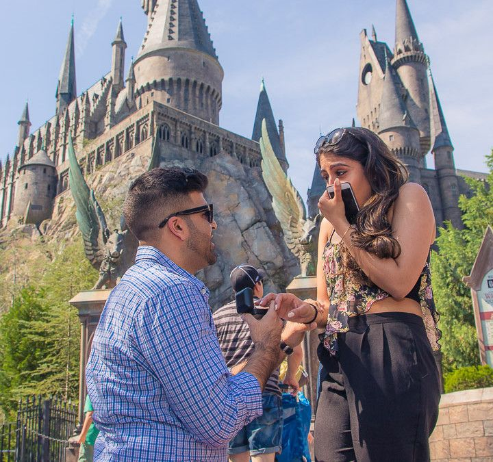 Harry Potter World Wedding: Orlando Surprise Proposal At The Wizarding World Of Harry