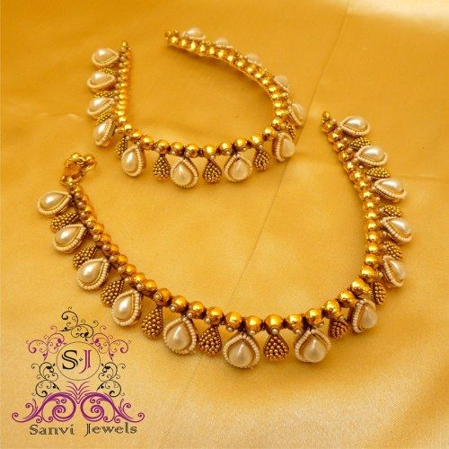 Antique Pear Shaped Pearl Anklets