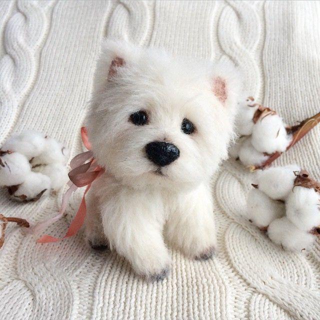 Tiny dog for my dear @ballyyyyyy ✨ Маленький вестик для @ballyyyyyy и ее #малышкаайви ✨☺️ #westhighlandterrier #white #terrier #toy #artist #artistbear #teddy #dog #lifelike #tiny #small #girl #ivy #alpaca #soft #cotton #morning #mywork #forestfellows #собака #терьер #вестик #белый #утро #айви #мояработа #ilovemyjob