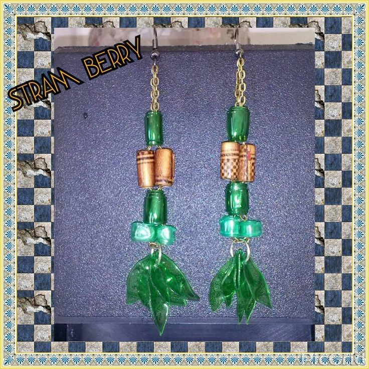Orecchini Sun in due tonalità di verde : Orecchini di stram-berry