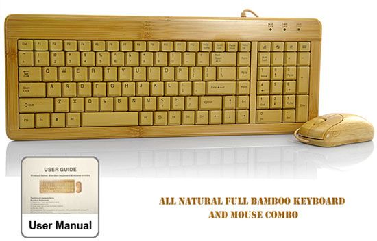 25 Amazing Gadgets To Make Your Life More Interesting, Bamboo keyboard and mouse