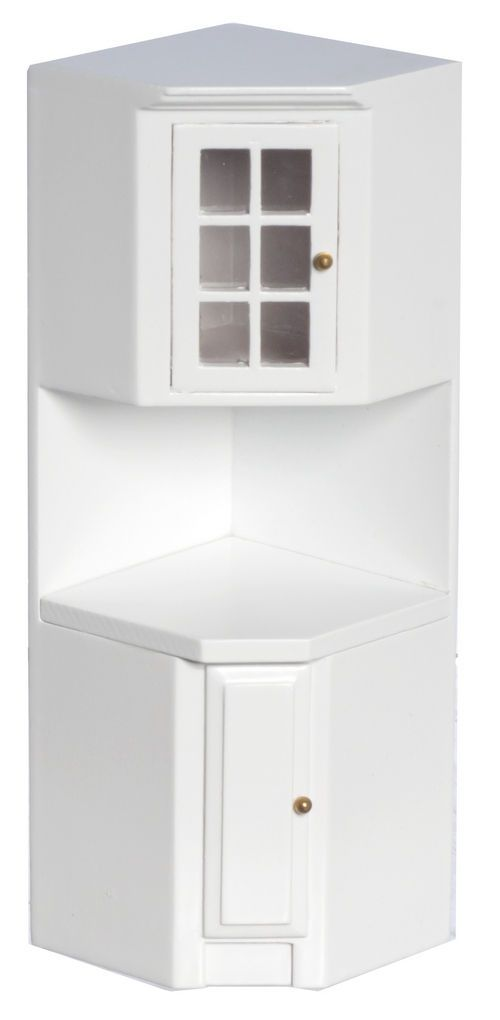 kitchen tall cabinet http i ebayimg t dollhouse miniature modern white 3230