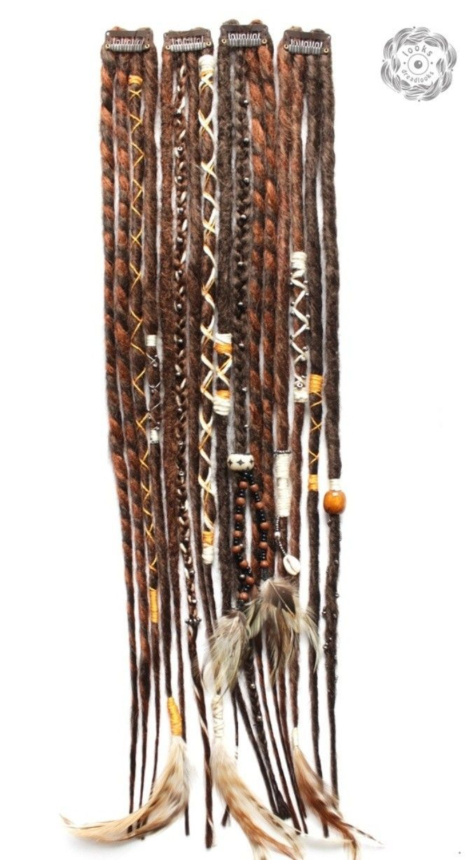 Dreadlock Art Sleeve FREE SHIPPING Fiber Bead Sleeve Wrap Jewelry Hair Accessory Braid Dreads Loc