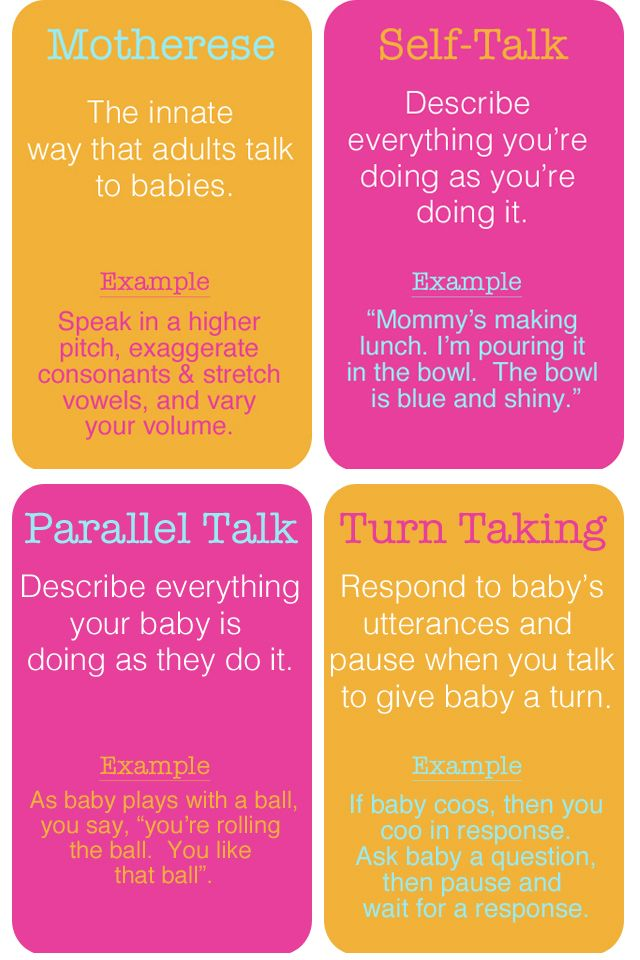 For parents - ways to encourage communication development