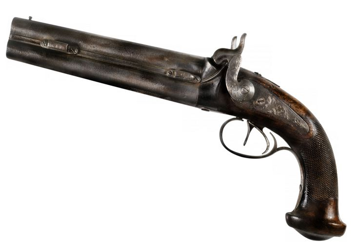 Peter Lalor's pistol .. Lalor led the miner's uprising at the Eureka stockade and this gun he carried there.(State Library of Victoria)