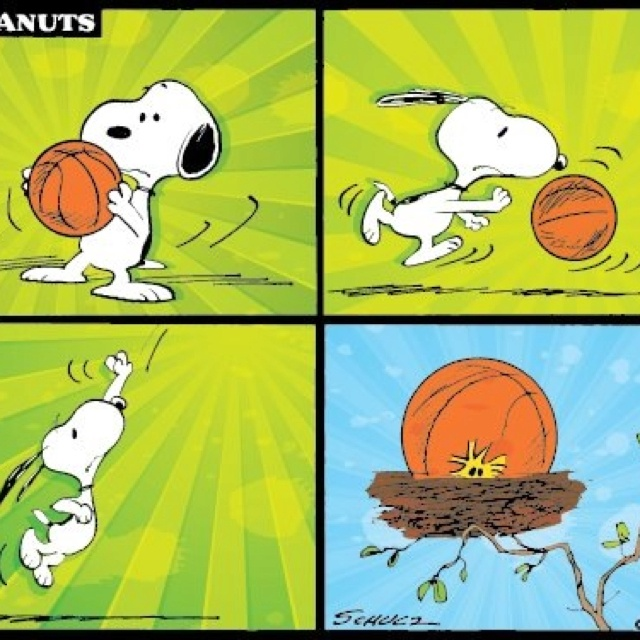 Hoops - Snoopy style.