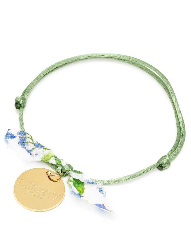 Flowers of Liberty Green Theodora Liberty Print Friendship Bracelet | Jewellery | Liberty.co.uk