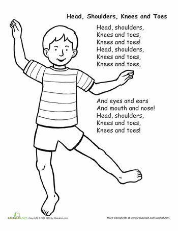 Worksheets: Head, Shoulders, Knees and Toes