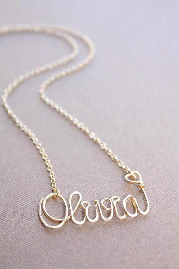 cd7da842bc813 Gold Name Necklace Custom Name Necklace Personalized Name | Fashion ...