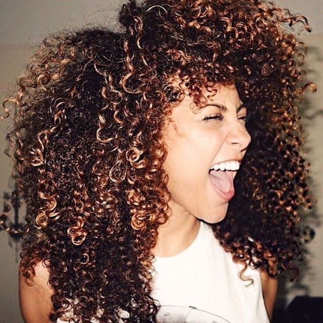 14 best black curly hair with highlights images on pinterest naturally curly hair brunette with highlights pmusecretfo Choice Image