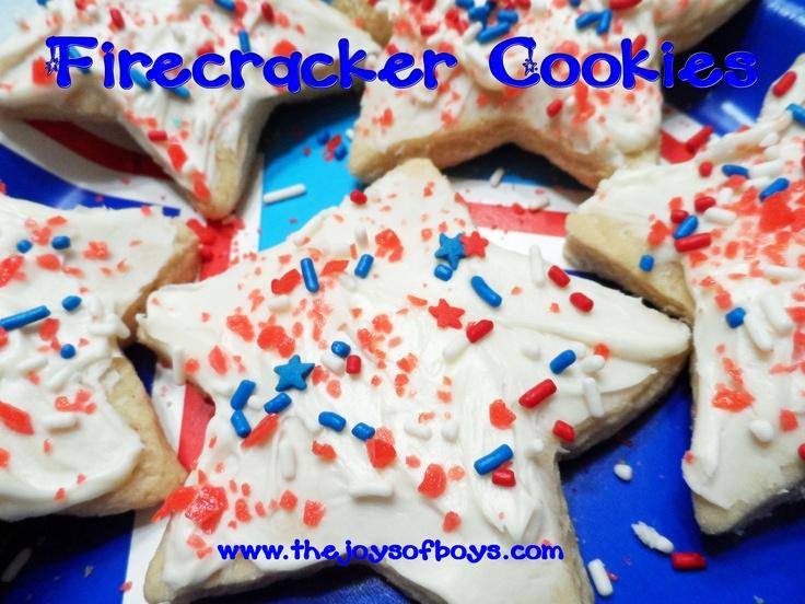 Firecracker cookies made with Pop Rocks.