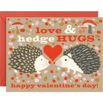 Hedgehogs A2 Valentine Cards