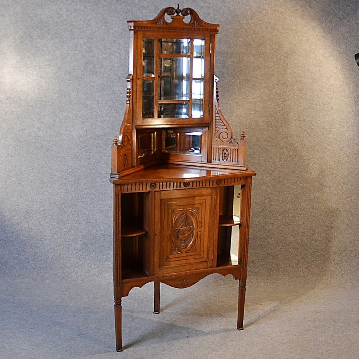 Antique Corner Cabinet China Display Cupboard Victorian Walnut English c1880 - Best 25+ Antique Corner Cabinet Ideas On Pinterest Small Corner