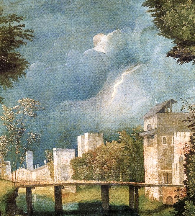 Giorgione, la tempête (Detail)