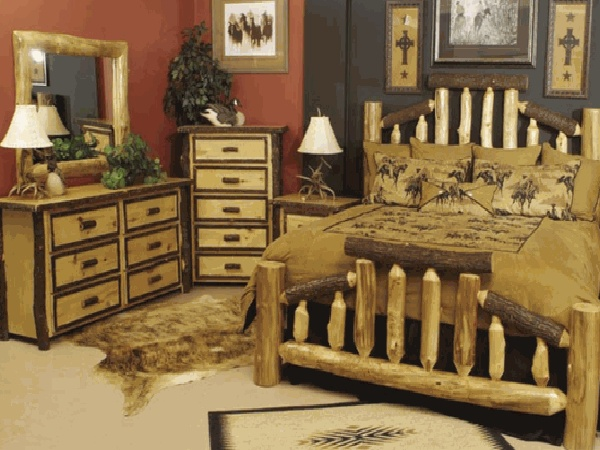 in the olden days people had no choice but to place rustic bedroom furniture sets in