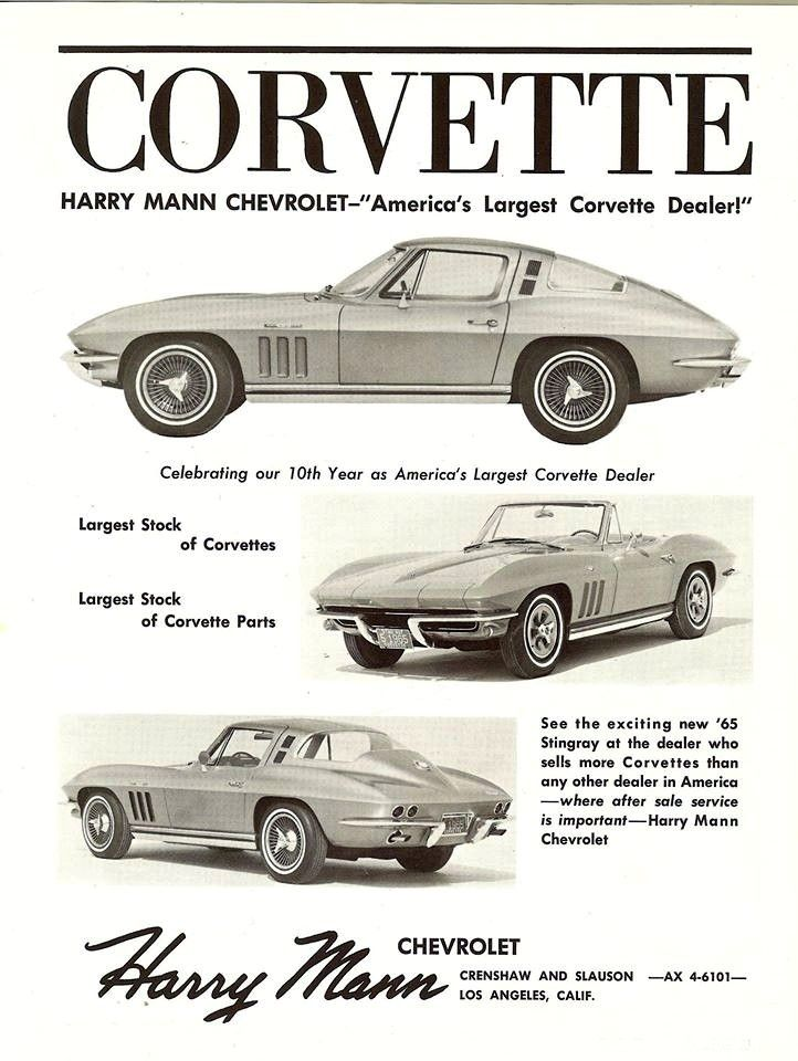 1965 C2 Corvette ad… Harry Mann Chevrolet