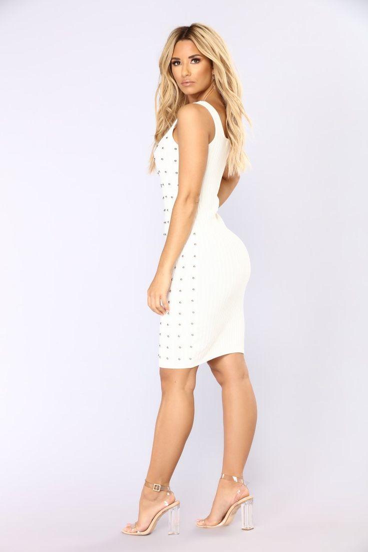 Dollar Bills Midi Dress – Off White