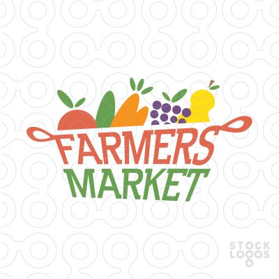 Exclusive Customizable Logo For Sale: farmers market | StockLogos.com