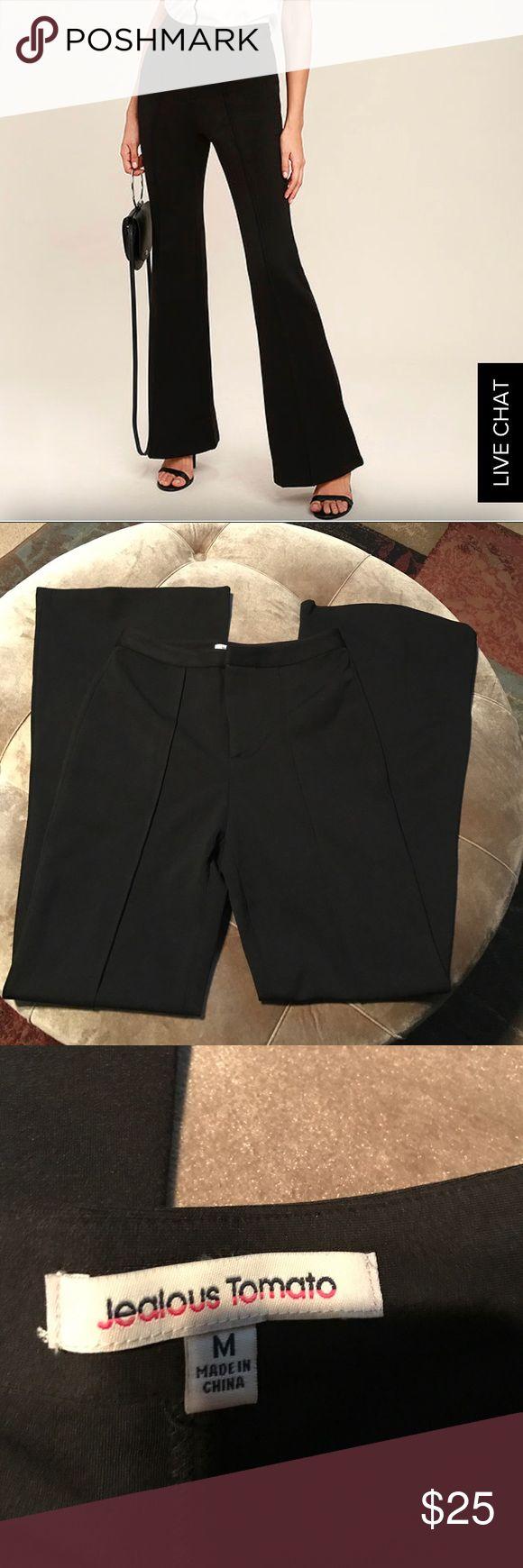 Lulus flare black pants size Medium NEW New Never Worn/ black Career flare pants size Medium lulus brand Lulu's Pants Boot Cut & Flare
