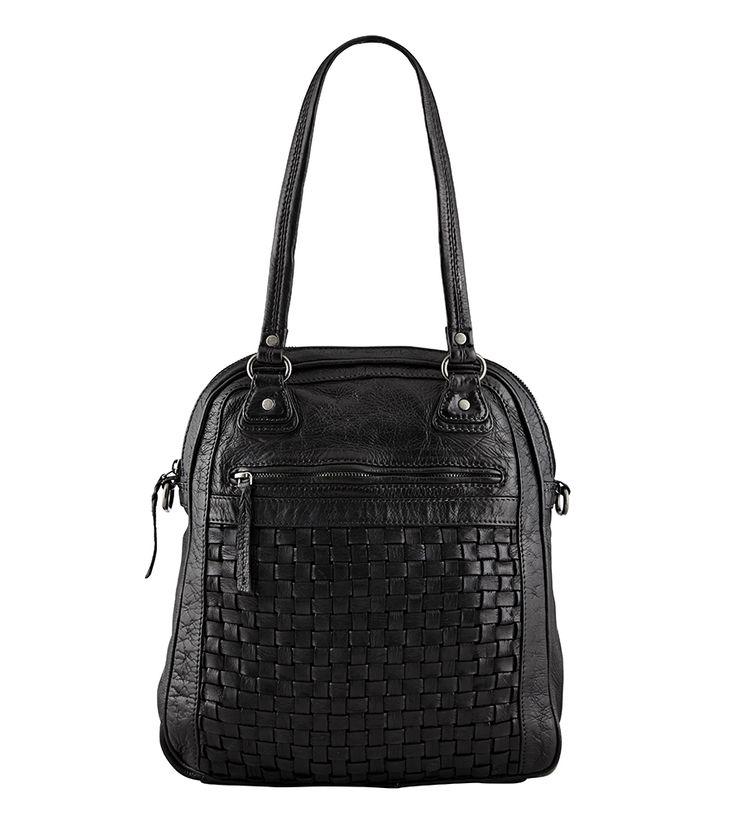 Playful nature, large bag, style 11046. Black.