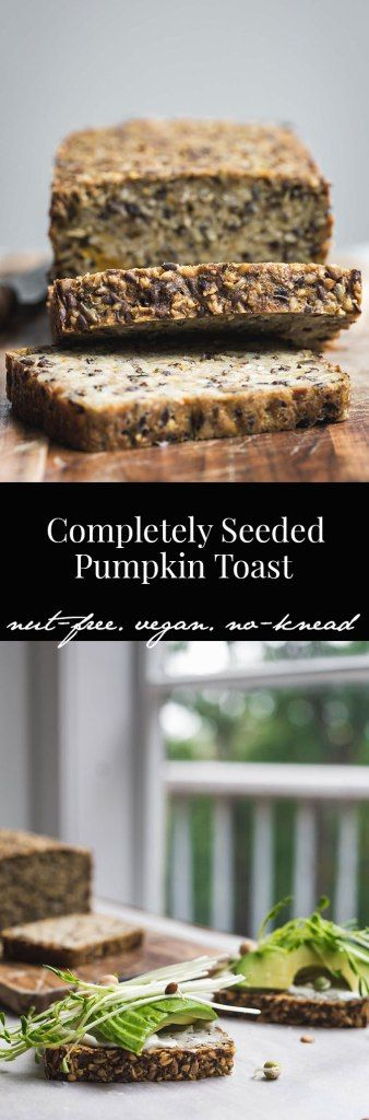 Based on Sarah Britton's life-changing recipe, this nut-free seeded pumpkin toast also contains a little sneaky pumpkin.