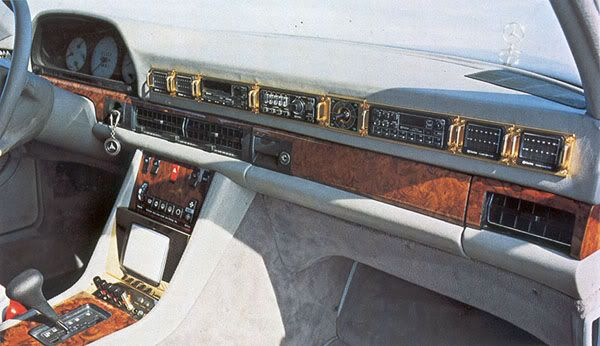 Image result for Mercedes W126 Custom Dashboard